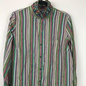 Liz Clayborne Womens Colorful Button Shirt Size XL